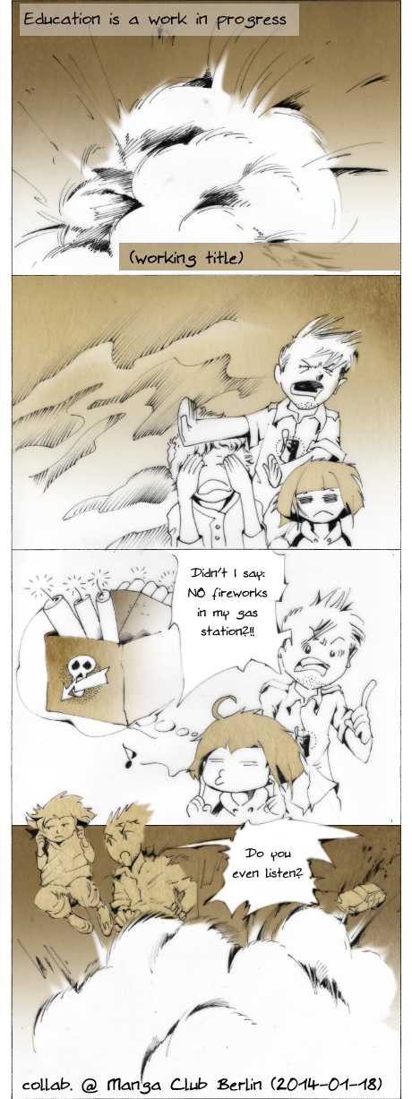 Yonkoma four panel comic storytelling