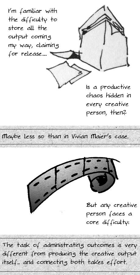 Vivian Maier creativity productive output chaos