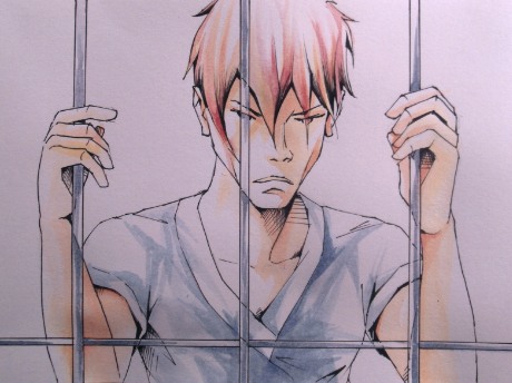 manga watercolor prisoner