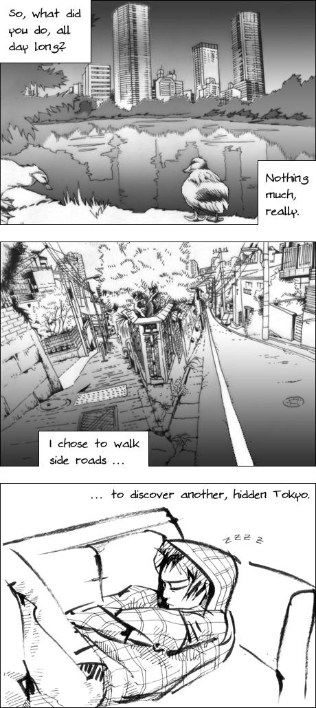 Concrete Dreams Tokyo manga Wandering Ueno FujimiZakaSlope