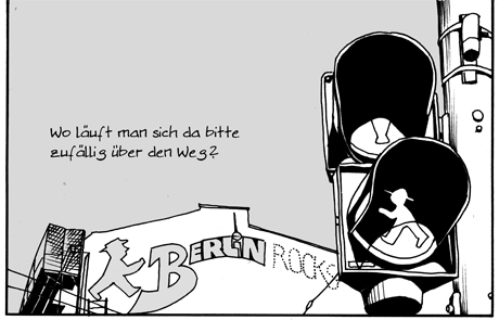 slice of life freelancer comic 13 urban encounter happens in Berlin